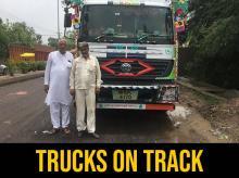 Dalbir Singh, a fleet owner and Farukh, a trucker