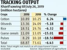 Rain in August to determine final output of kharif crops this year