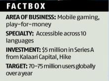 This mobile gaming start-up seeks to give Indians a small win every day