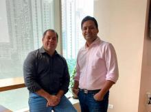 Alteria Capital founder Ajay Hattangdi and Vinod Murali