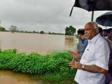 Karnataka Chief Minister BS Yediyurappa visits flood-affected areas of Belgaum