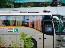 New Delhi: Passengers board the Delhi-Lahore bus, also known as Sada-e-Sarhad, at Ambedkar terminal in New Delhi, Friday, Aug 9, 2019. Despite tensions between Indo-Pak relations following the scrapping of the provisions of Article 370 in the state o