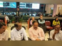 Isro Chairman K Sivan (second from left) along with other officials