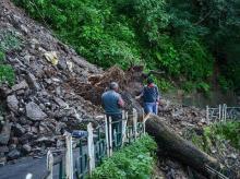 himachal, landslide