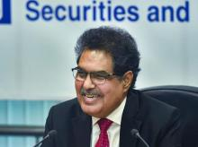 Ajay Tyagi, chairman of Securities and Exchange Board of India (SEBI) during a press conference in Mumbai