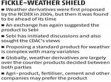 Sebi starts fresh talks on weather derivatives after NCDEX proposal
