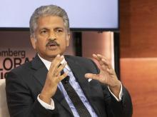 Anand Mahindra, Chairman of the Mahindra Group, speaks at the Bloomberg Global Business Forum, Sept. 25, 2019 in New York. (Photo: AP/PTI)