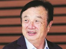 Huawei founder Ren Zhengfei reaffirmed that US sanctions could depress the company's sales by $10 billion annually