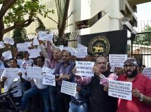 PMC Bank protest, Protest outside RBI, PMC Scam