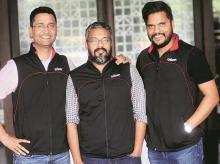 Udaan founders Amod Malviya, Vaibhav Gupta and Sujeet Kumar