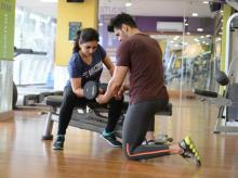 A personal training session at Anytime Fitness