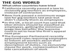 Laws for gig workers prove a laborious process
