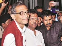 Nobel Laureate Abhijit Banerjee with Kolkata Mayor Firhad Hakim
