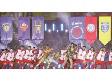 Actors Tiger Shroff and Disha Patani performed at the opening ceremony for the game in Kochi earlier this month