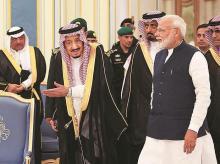 PM Modi, saudi prince