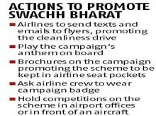 Govt's clean diktat to airlines: Promote Swachh Bharat, get flying rights