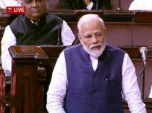 Prime Minister Narendra Modi on the first day of the Winter Session of Parliament in New Delhi. Photo: ANI