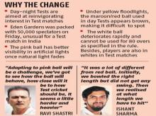 Kolkata sheds its white-blue nocturnal hue with Pink Ball Day-Night Test