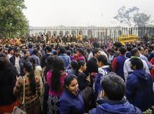 DUTA, teachers, professors, protest, Delhi university, DU, VC, Vice chancellor, V-C