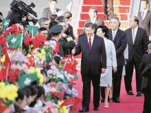 Chinese President,  Xi Jinping, Peng Liyuan, Macau Chief Executive, Fernando Chui, Ho Iat-seng