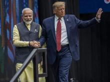 Prime Minister Narendra Modi and US President Donald Trump in Houston on September 22, 2019   Photo: Bloomberg
