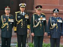 Bipin rawat, CDS, Air Chief Marshal Rakesh Kumar Singh Bhadauria, Admiral Karambir Singh, Manoj Mukund Naravane,  Chief oF defence staff, Army chief, services, navy cheif, Air force, IAF, TRI SERVICE