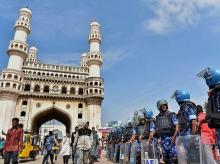 Hyderabad,Rapid Action Force, Citizenship, protest, Charminar,