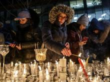 Vigil for Ukraine airline crash victims