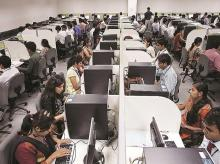 jobs, employement, workers, IT firms, Information technology, call centre, white collar, office, work