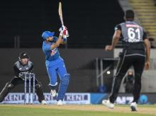 India's Shreyas Iyer bats during the Twenty/20 cricket international between India and New Zealand in Auckland. Fle photo: AP | PTI