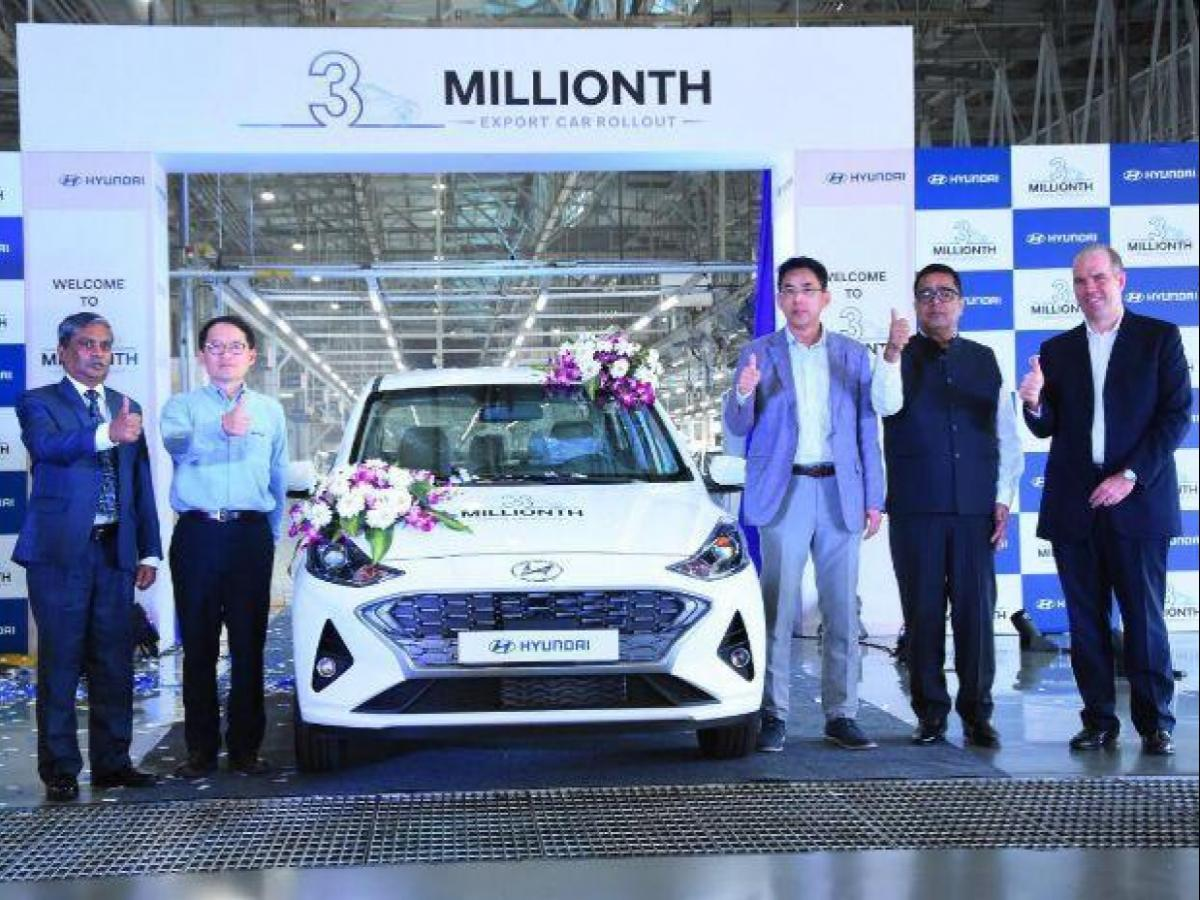 Hyundai India Rolls Out 3 Millionth Car To Be Exported From Chennai Plant Business Standard News