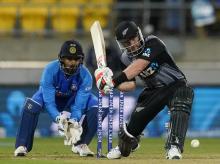 New Zealand's Tim Seifert bats during 4th T20 international between India and New Zealand in Wellington. Photo: AP | PTI