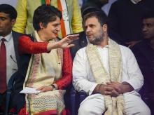Rahul Gandhi and Priyanka Gandhi election campaign rally in Delhi