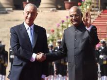 President Ram Nath Kovind with Portuguese President Marcelo Rebelo de Sousa