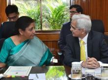 Nirmala Sitharaman and Shaktikanta Das