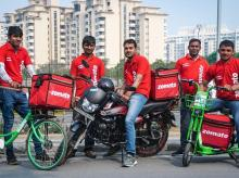 Zomato delivery partners