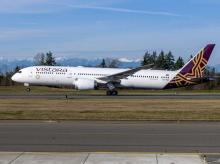 Vistara's first Boeing 787-9 Dreamliner. Photo: @Boeing_In