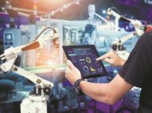 robotics, Internet of things IoT, digita, AI, artificial technologies, machine data