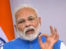 Prime Minister Narendra Modi gestures during his address to the nation on coronavirus pandemic in New Delhi, Thursday, March 19, 2020. Photo: PTI