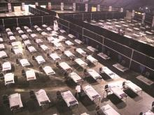 isolation centre at the NSCI dome, coronavirus, beds, hospitals, patients