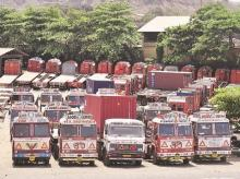 trucks, road, transport, industry, manufacturing, production