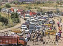 traffic, curfew, checking, coronavirus, people, road, highway, cars, bike, population