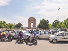 india gate, delhi, people, lockdown, traffic, coronavirus