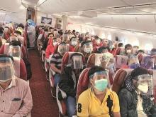 Passengers onboard the Singapore-Mumbai flight, Vande Bharat Mission