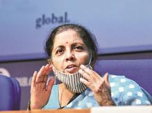Finance Minister Nirmala Sitharaman announcing details of special package at a press conference in New Delhi