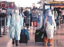 Passengers, airlines, aviation, protective gear, Delhi International Airport, coronavirus, lockdown, flights, domestic