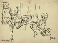 Chittaprosad, drawings, paintings, bengal famine