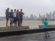 mumbai, monsoon, rain, nisarga, clouds, marine drive