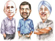 Juggy Marwaha, Venkat Narayana and K Ganesh, the co-founders of KVN Foundation