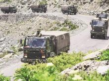 Army convoy, Srinagar-Leh National highway